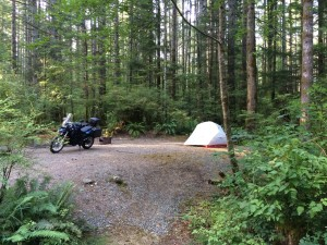 Motorcycle camping, BMW F650GS