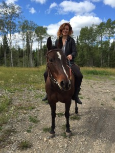 Horseback riding in motorcycle boots
