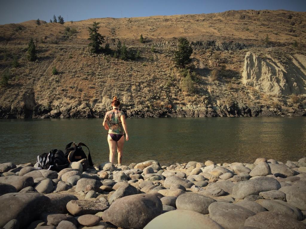 Morning Thompson River Swim