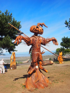 Wood Carving in Campbell River B.C, Vancouver Island