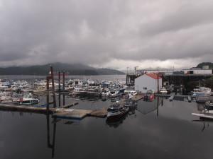Grey morning in Prince Rupert B.C but no rain