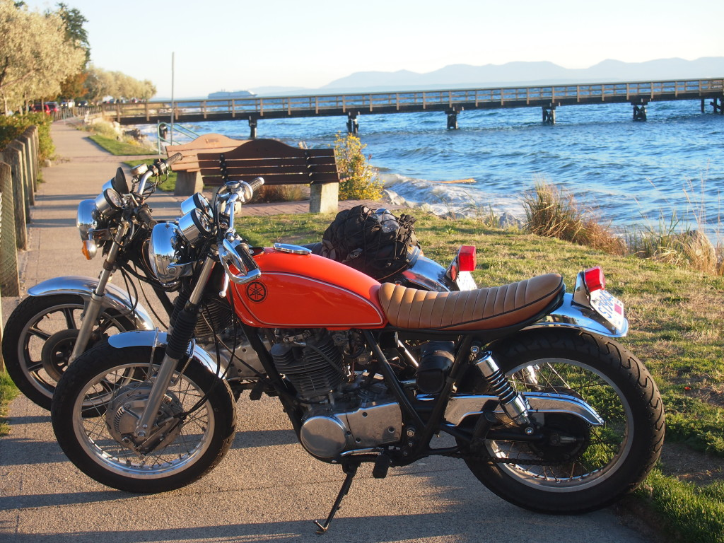 Yamaha Sr500 customized in Sechelt on the Sunshine Coast B.C