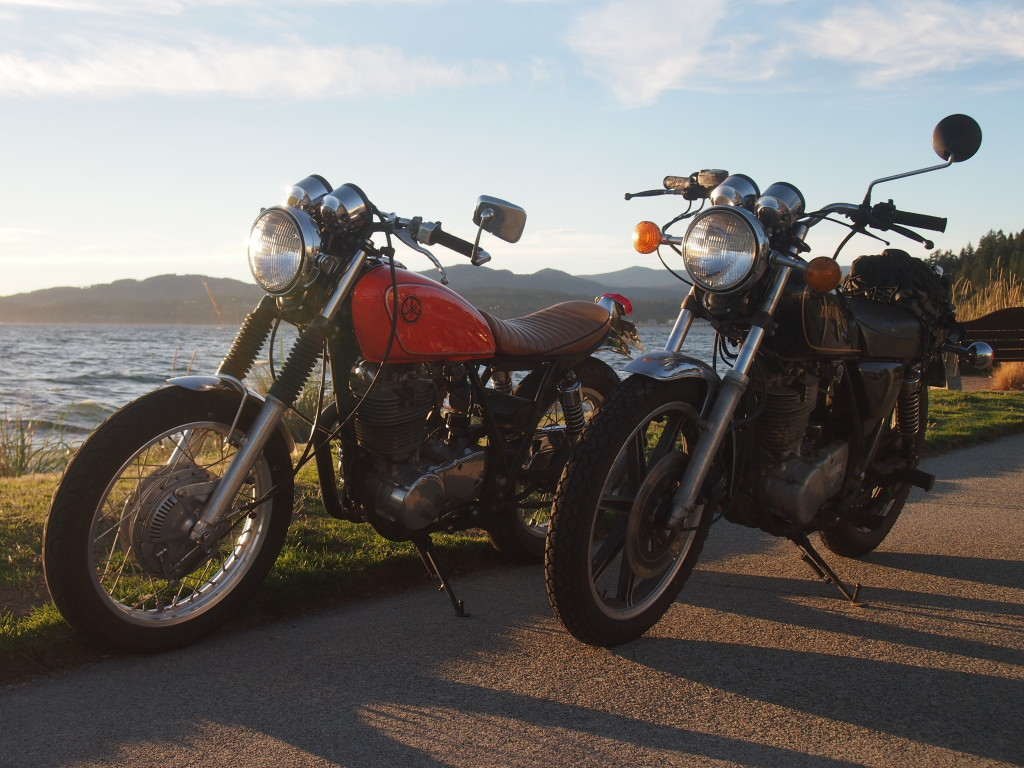 Yamaha SR500 in Sechelt B.C on the Sunshine Coast