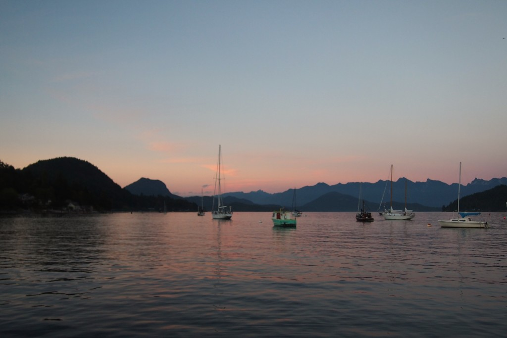 A day ending in beautiful Gibsons, Sunshine Coast, B.C