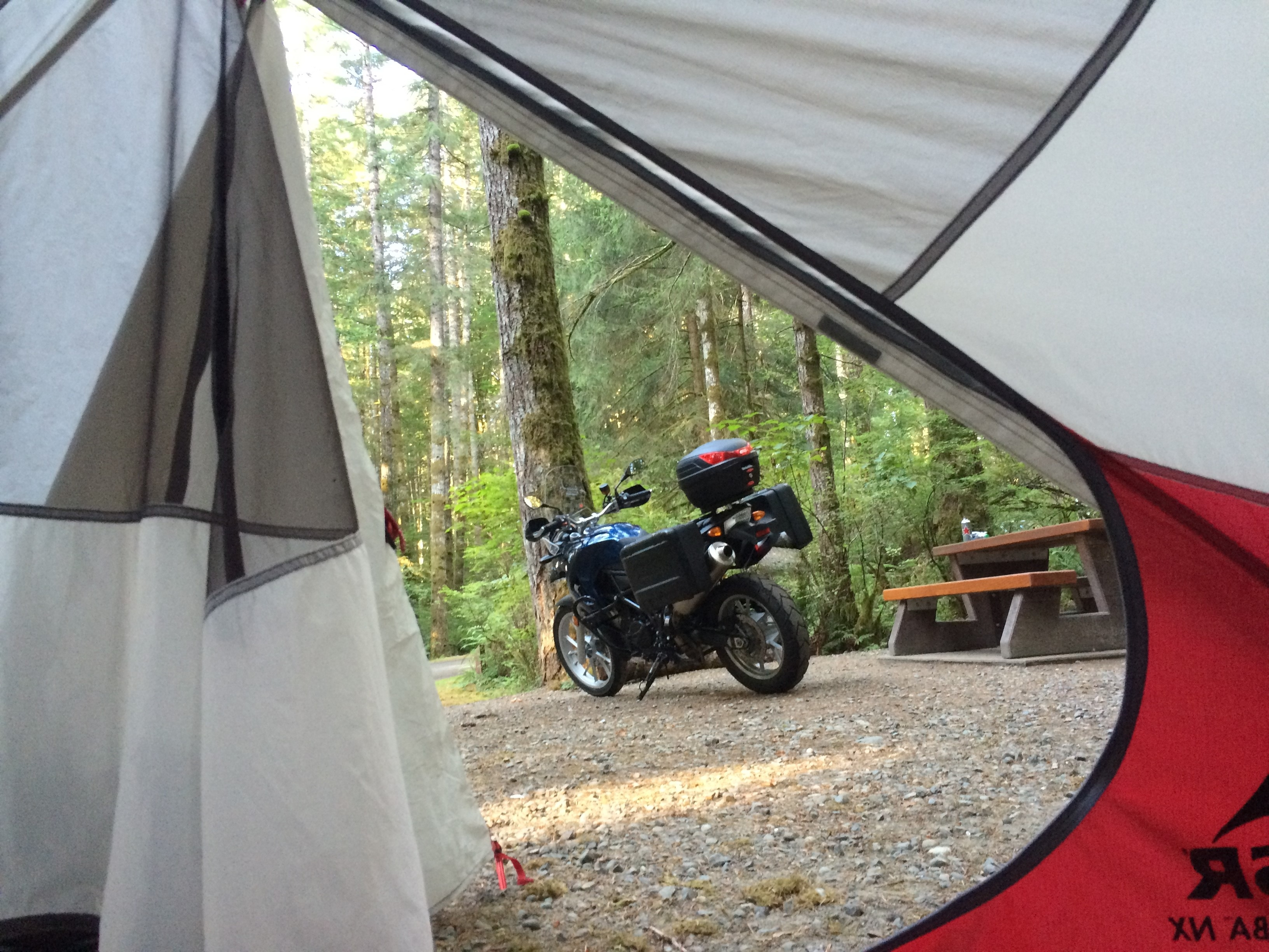 2010 BMW F650GS, camping in Campbell River BC