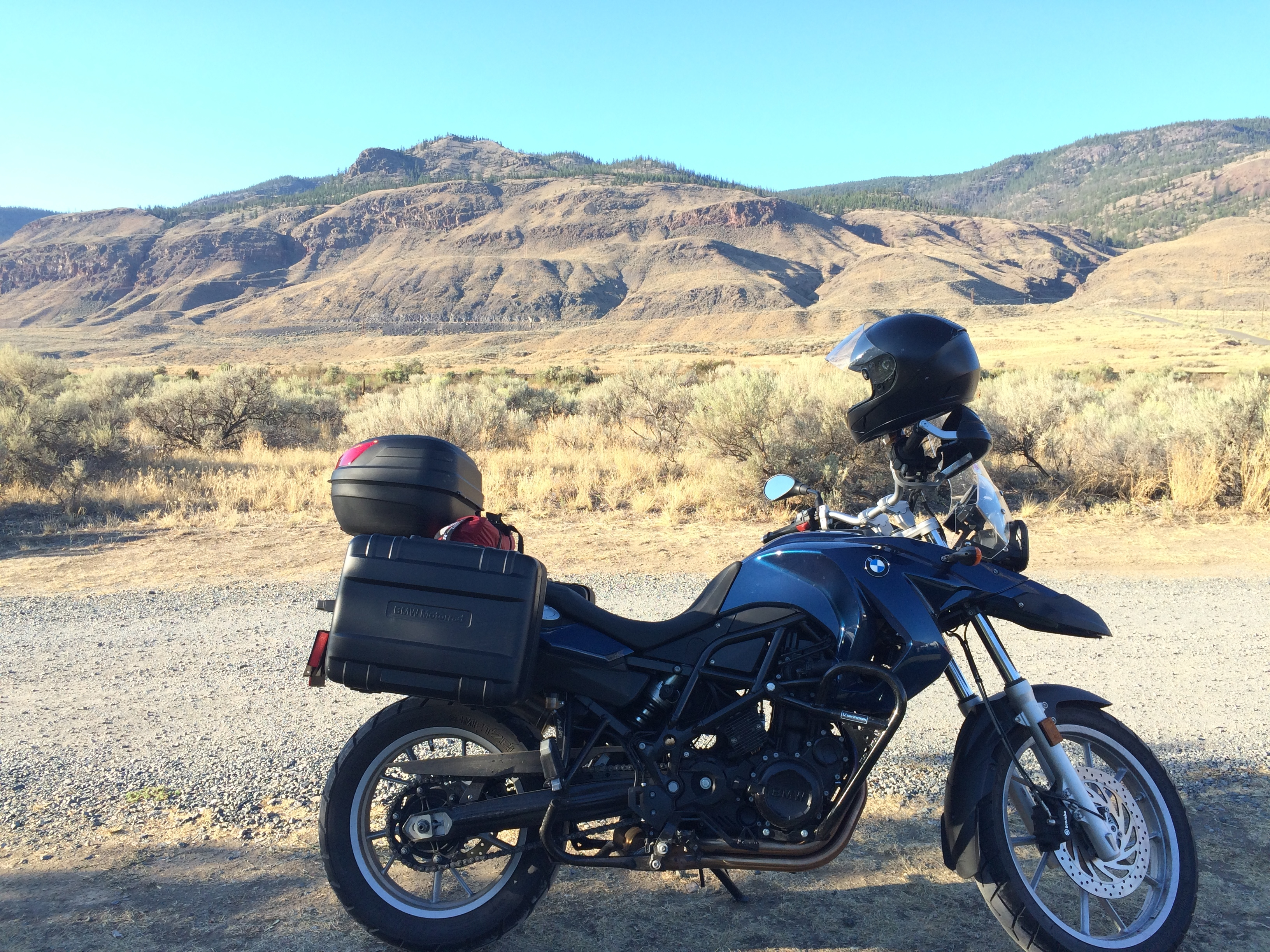 2010 BMW F650GS just outside Cache Creek BC