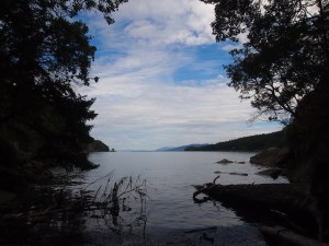 One of the many lovely places to relax on Mayne Island BC