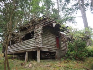 Ruins of a cabin on Mayne Island BC
