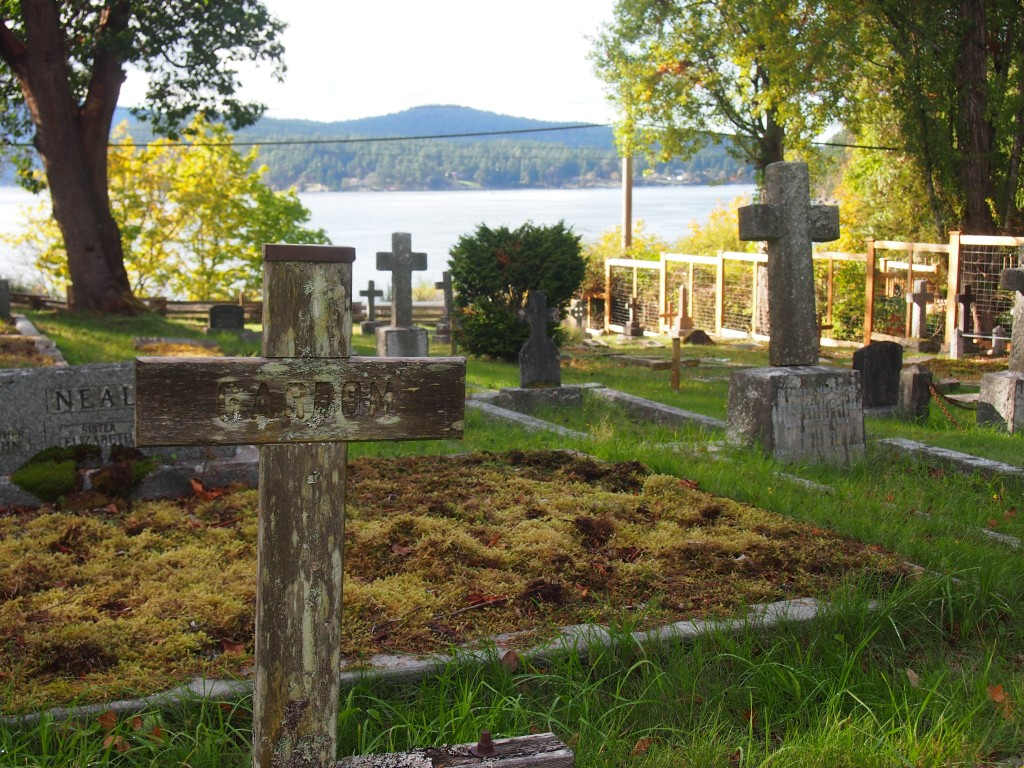 Cemetery at St. Mary Magdalene Church, Mayne Island BC