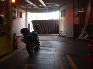 Only motorcycle on the ferry from Mayne Island BC