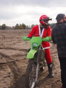 Evil Santa Claus at the High Noon Scramble