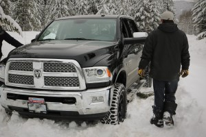 Digging out the stuck Dodge