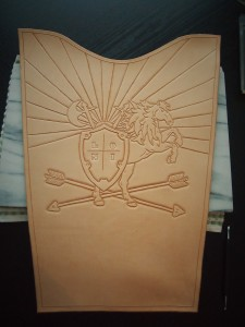 Custom leather tooled quiver