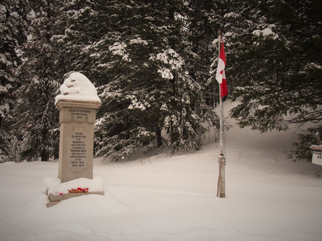 World war one cenotaph in the ghost town of Phoenix BC