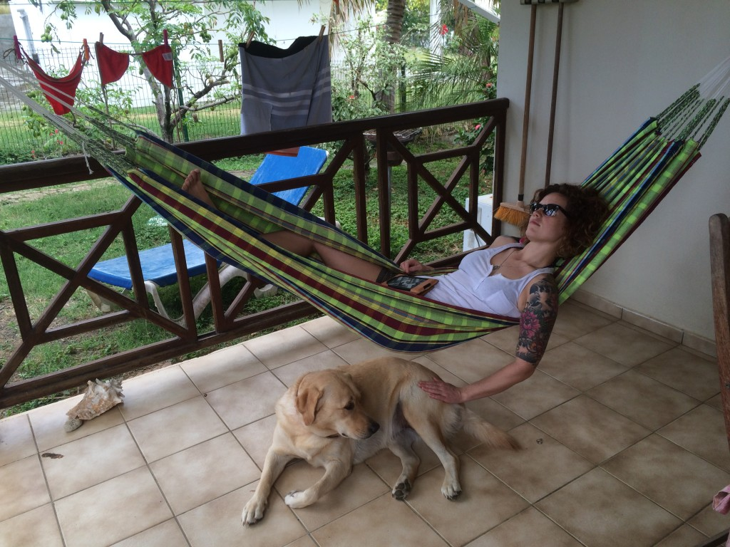 Relaxing in a hammock in Guadeloupe