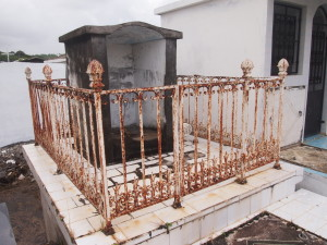 Cemetery in Sainte-Anne Guadeloupe