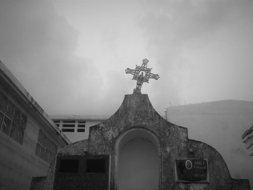 A cemetery in Sainte-Anne Guadeloupe