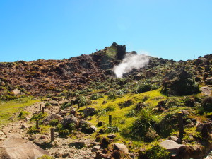 Hiking the volcano La Soufriere in Guadeloupe