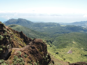 The view from La Soufriere in Guadeloupe
