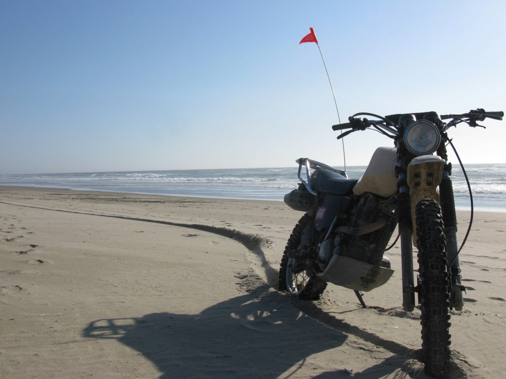 XT500 on the Oregon Coast
