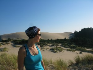 Hanging out on the Oregon Coast in the sand dunes