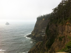 Look out at Cape Mears on the Oregon Coast
