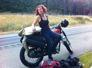 Road trip in Washington on the Yamaha SR400