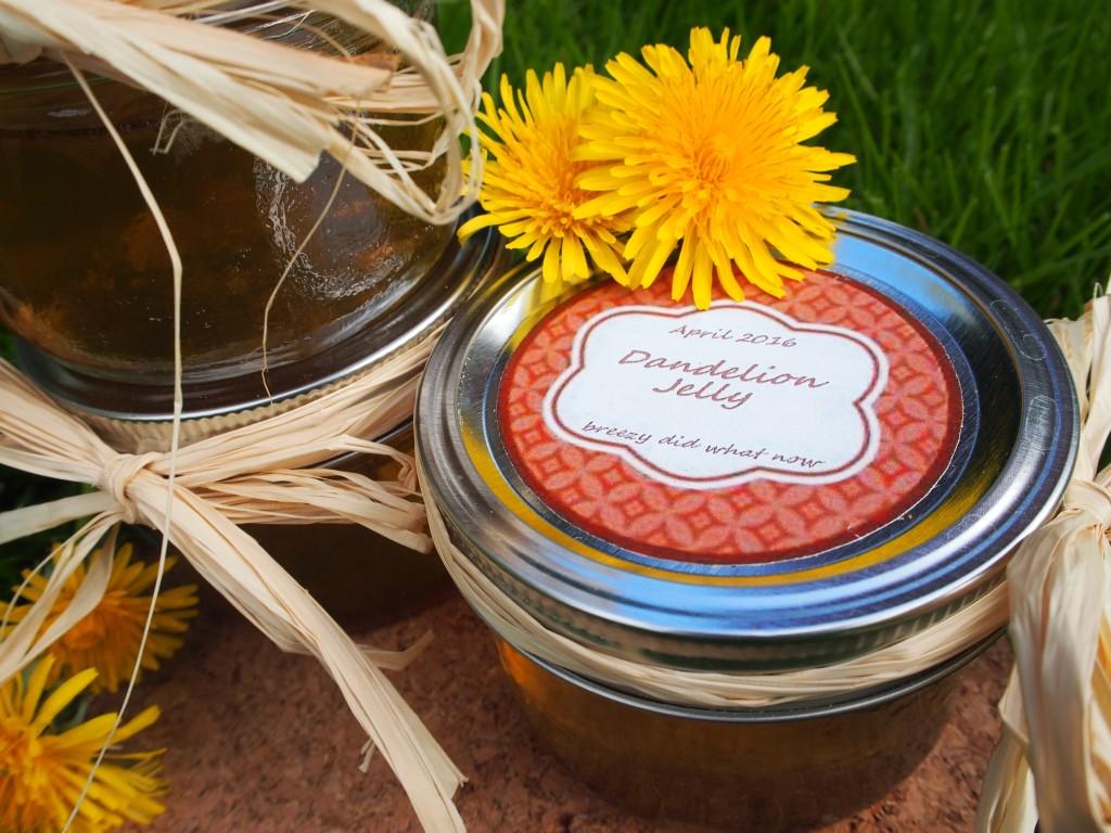 Homemade organic dandelion jelly