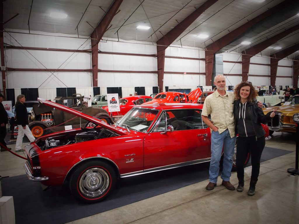 Dad and I with his 1967 Chevy Camaro at the British Columbia Classic and Custom Car Show