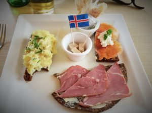Icelandic plate for dinner in Reykjavik, Iceland