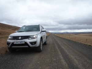 Gravel roads on my road trip in Iceland
