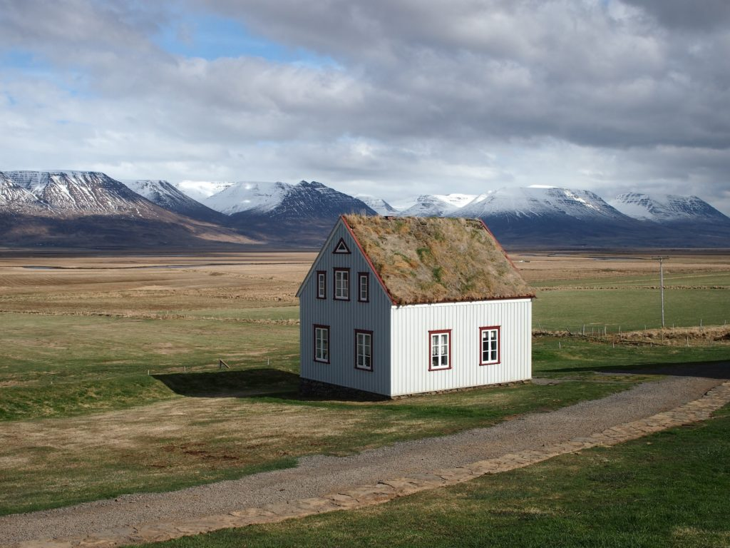 Historical turf farm house in Iceland
