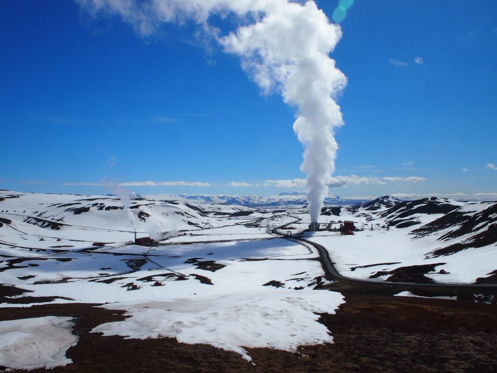 The Krafla Geothermal Power station in north Iceland