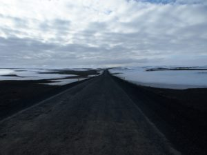The road to Husavik on my road trip around Iceland
