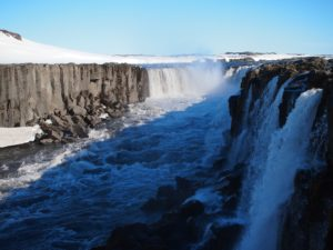 Waterfall Selfoss on my road trip around Iceland