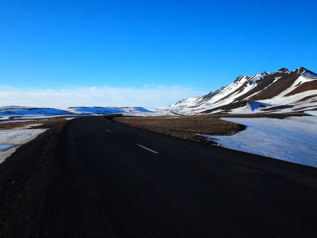 Travelling through the north of Iceland on my road trip