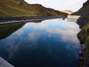 Seljavallalaug pool in south Iceland on my road trip
