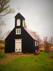 Mosfell church in Iceland on my road trip