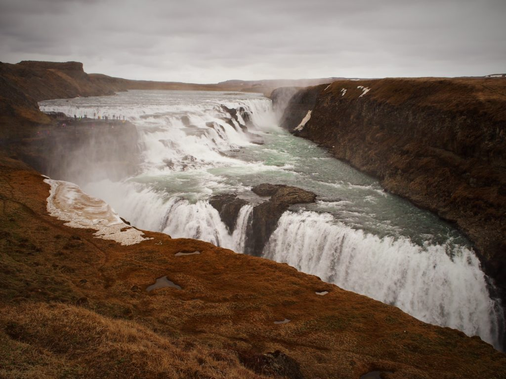 Waterfall Gulfoss on the golden circle in Iceland on my road trip