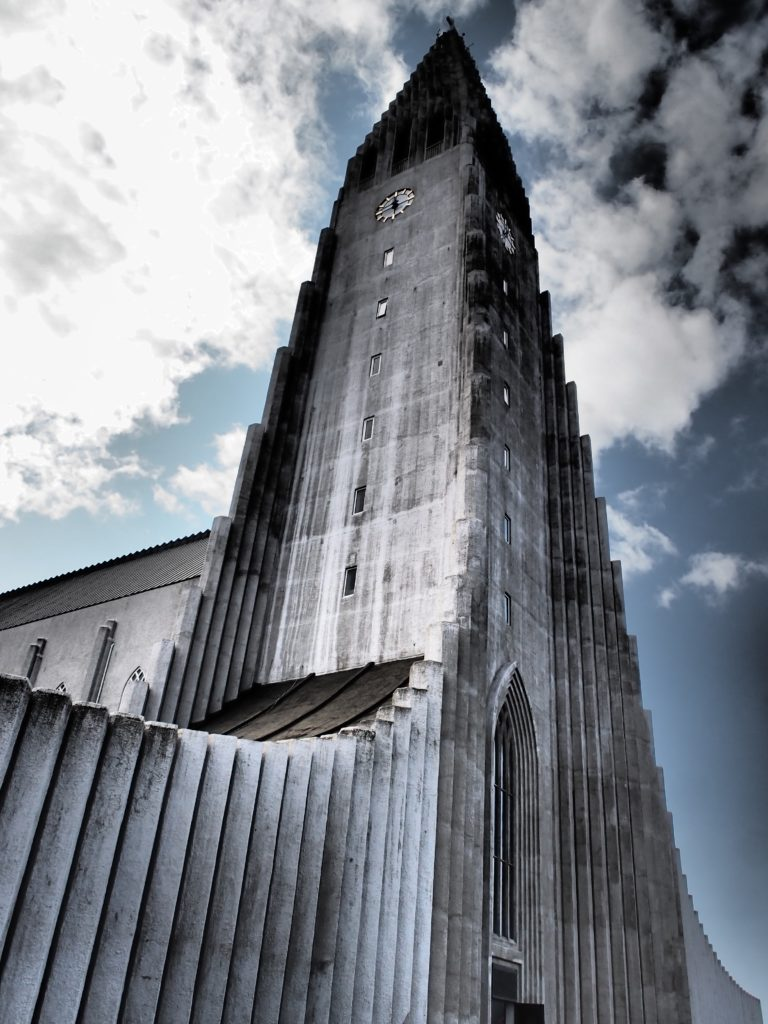Hallgrimskirkja church in Reykjavik Iceland