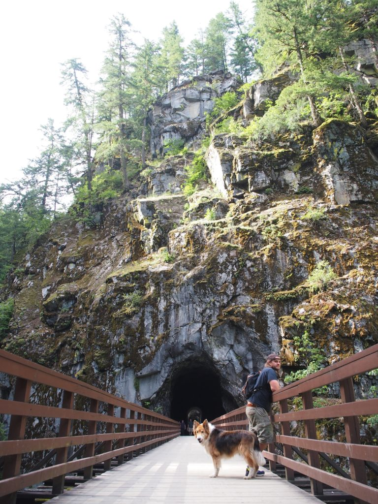 Day trip to the Othello Tunnels with the old dog
