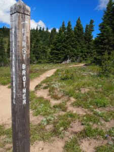 Junction for the first brother peak on the Heather Trail