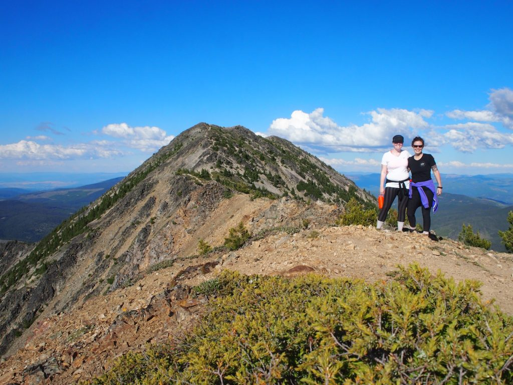 Hiking the first brother peak on the Heather Trail