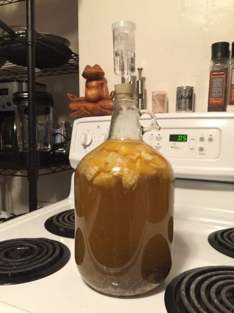 Making homemade dandelion wine