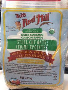 Steel cut oats for making homemade healthy oat bars