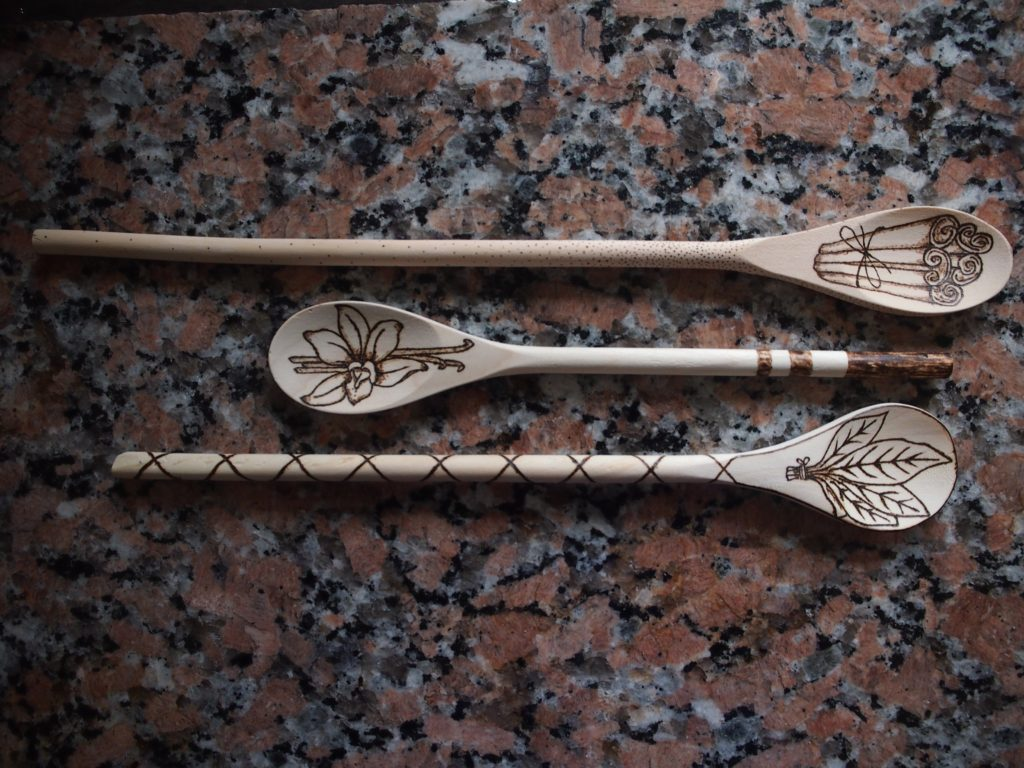 Wood Burning wooden spoons for mothers day