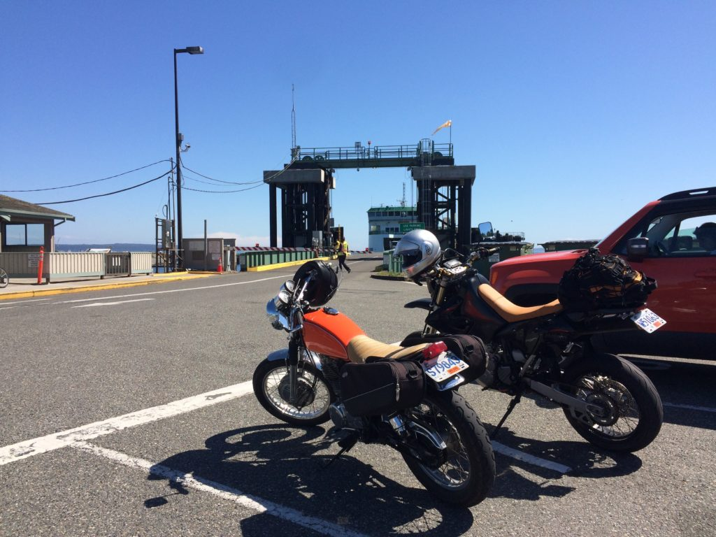 Waiting for the ferry from fort casey to port townsend