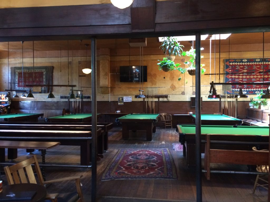 The billiards room at the olympic club in Centralia