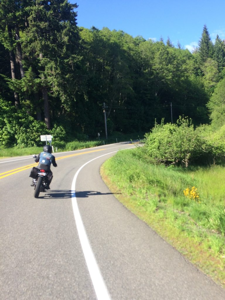 Riding back roads in western washington