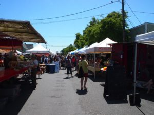 CHecking out the farm market in Port Townsend Washington